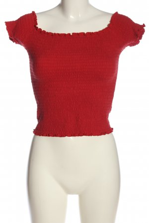 Hollister Cropped Top rot Casual-Look
