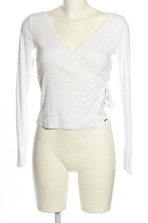 Hollister Crop-top blanc style décontracté