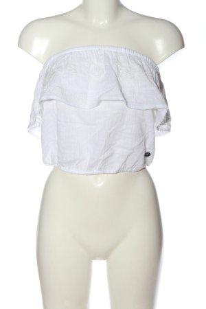 Hollister Cropped Top weiß extravaganter Stil