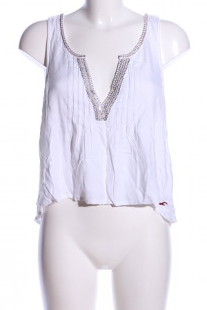 Hollister Cropped Top weiß-silberfarben Casual-Look