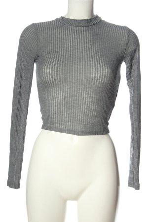 Hollister Cropped Shirt hellgrau Casual-Look