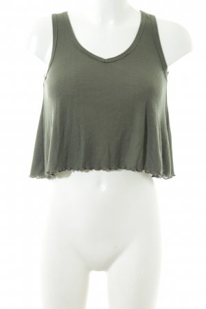 Hollister Cropped Top khaki Casual-Look