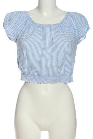 Hollister Top corto blu motivo a righe stile casual