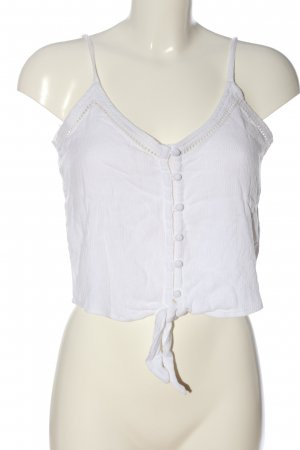 Hollister Cropped Top weiß Casual-Look