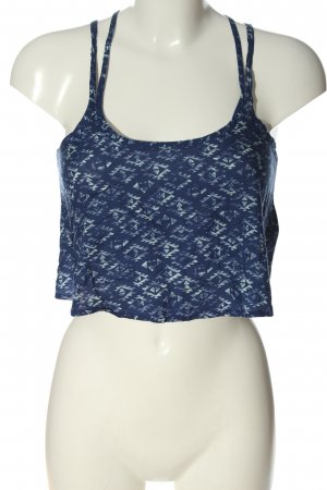 Hollister Cropped Top blue-white abstract pattern casual look