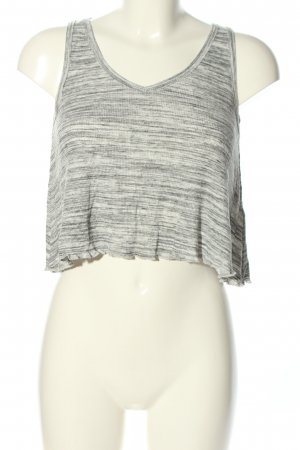 Hollister Cropped Top light grey-natural white flecked casual look