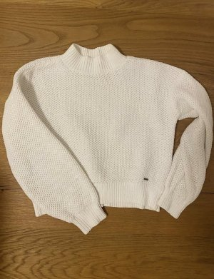 Hollister Damen Strick Pullover Weiß Wollweiß Gr 36 small S neu