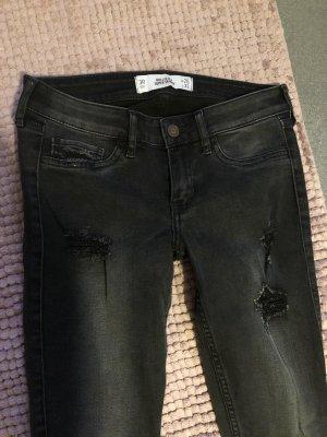 Hollister destroyed Super skinny Jeans schwarz NEU