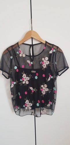 Hollister Camisa de malla multicolor