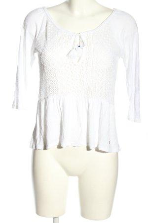 Hollister Koszula z odcięciem pod biustem biały W stylu casual