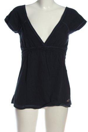 Hollister Koszula z odcięciem pod biustem niebieski W stylu casual