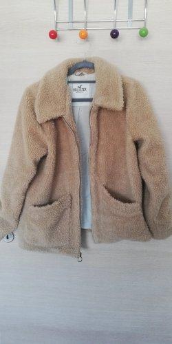 Hollister Futrzana kurtka jasnobrązowy