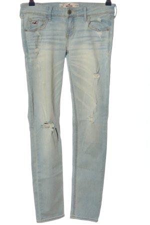 Hollister Pantalón de cinco bolsillos azul look casual