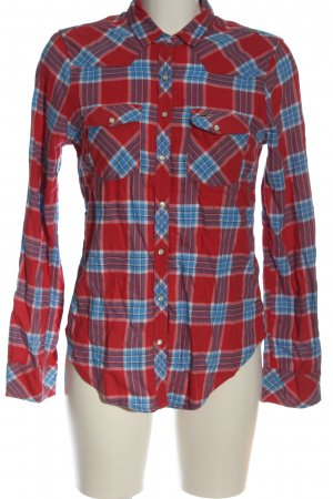 Hollister Flannel Shirt red-blue check pattern casual look