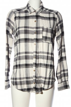 Hollister Flannel Shirt natural white-light grey check pattern casual look