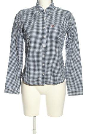 Hollister Langarmhemd schwarz-weiß Allover-Druck Business-Look