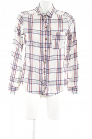 Hollister Flannel Shirt white-blue check pattern casual look