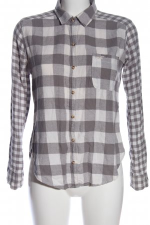 Hollister Flannel Shirt light grey-white check pattern casual look