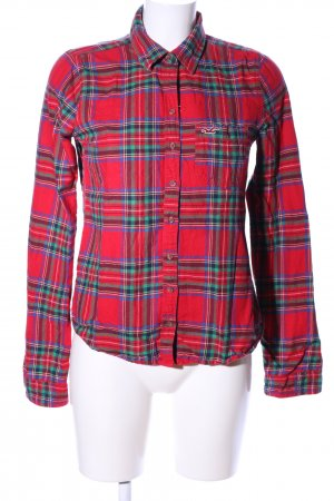 Hollister Flanellhemd rot Allover-Druck Casual-Look