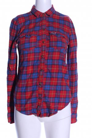 Hollister Flanellhemd rot-blau Karomuster Casual-Look
