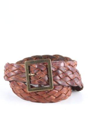 Hollister Pleciony pasek brązowy W stylu biznesowym