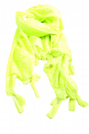 Hollister Fringed Scarf green-white spot pattern casual look