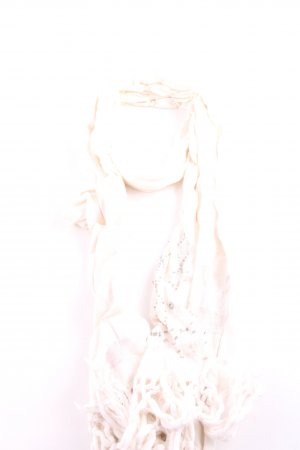 Hollister Fringed Scarf pink-cream elegant