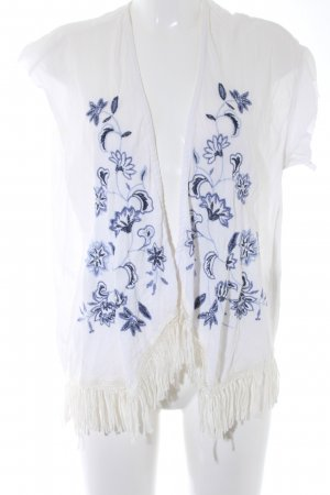Hollister Fringed Vest floral pattern casual look