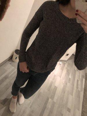 Hollister grau meliert Strick Sweater