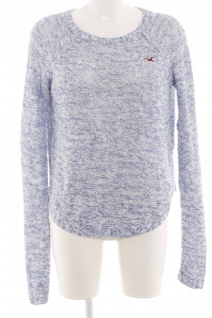Hollister Sweter z grubej dzianiny niebieski-biały Melanżowy W stylu casual