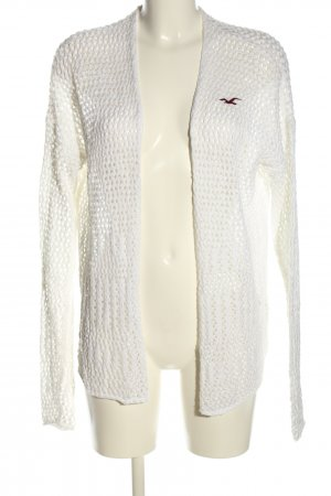 Hollister Crochet Cardigan natural white cable stitch casual look