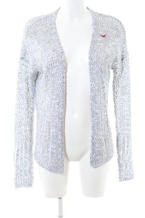 Hollister Crochet Cardigan light grey casual look