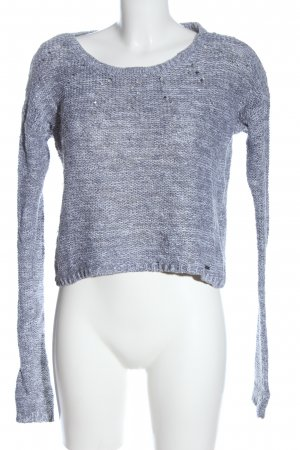 Hollister Szydełkowany sweter niebieski Melanżowy W stylu casual
