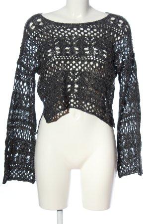 Hollister Gehaakte trui zwart casual uitstraling