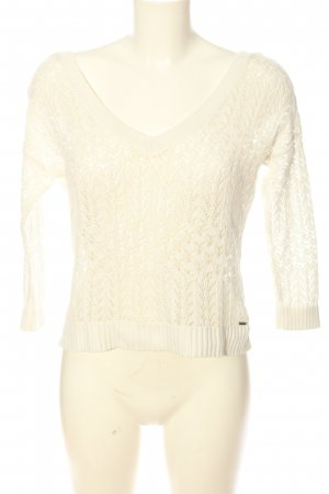Hollister Crochet Sweater natural white casual look