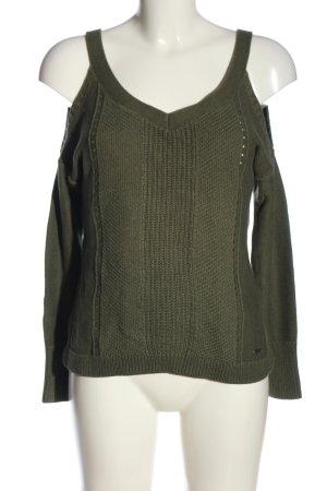 Hollister Szydełkowany sweter khaki W stylu casual