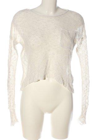 Hollister Szydełkowany sweter kremowy W stylu casual