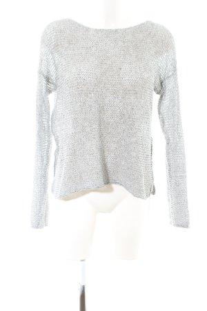 Hollister Pull en crochet gris clair torsades style décontracté