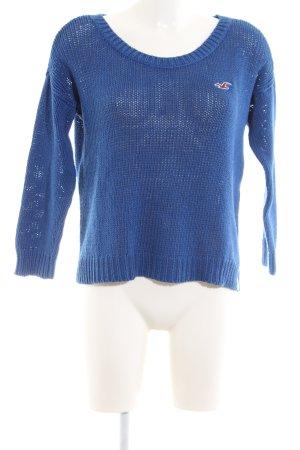 Hollister Häkelpullover blau Casual-Look