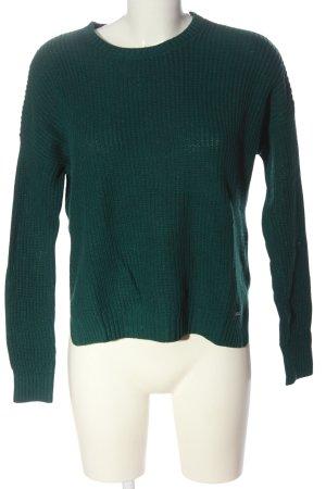 Hollister Pull en crochet vert style décontracté