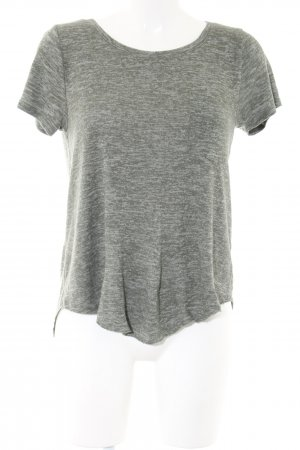 Hollister Camisa de ganchillo gris claro moteado look casual