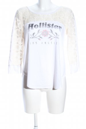 Hollister Gehaakt shirt wit-wolwit gedrukte letters casual uitstraling