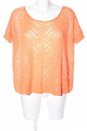 Hollister Gehaakt shirt licht Oranje casual uitstraling