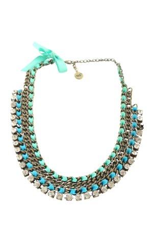 Hollister Halskette bronzefarben-türkis klassischer Stil
