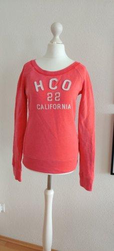 Hollister HCO Pullover Pulli Hoodie pink orange XS