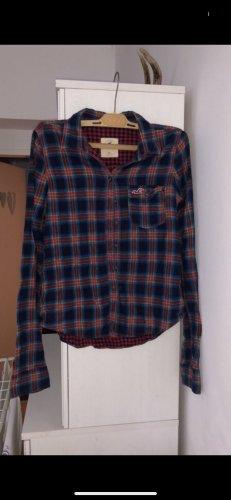 Hollister Camicia a maniche lunghe rosso scuro-blu