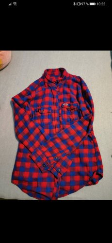 Hollister Flannel Shirt red-blue