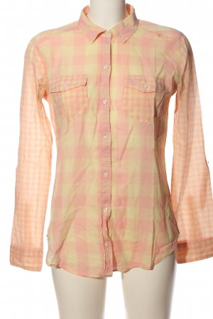 Hollister Hemd-Bluse pink-blassgelb Allover-Druck Casual-Look