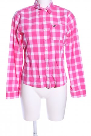 Hollister Hemd-Bluse pink-weiß Allover-Druck Casual-Look