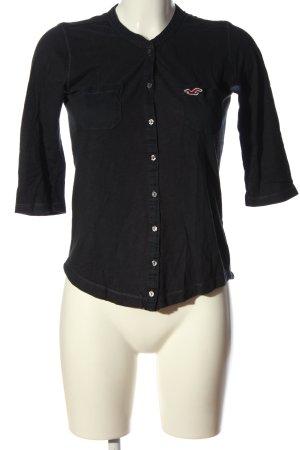 Hollister Hemd-Bluse schwarz Casual-Look